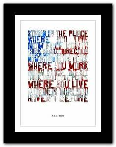 R-E-M-Stand-song-lyrics-typography-poster-art-print-A1-A2-A3-or-A4