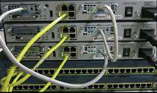 Cisco CCENT CCNA CCNP R&S SECURITY LAB 3x 1841 IOS 15.1T 256D/64F 2x 2950-24