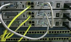 Details about Cisco CCNA CCNP R&S SECURITY LAB 3x 1841 IOS 15 1T 256D/64F  2x 2950-24