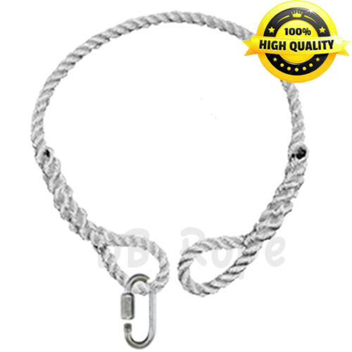 "SAFER Rope with 2 Spliced Eyes and Link 48/"" x 1//2/"" Tree Swing Hanging Hammock"