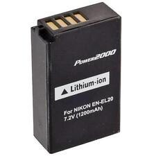 Power2000 EN-EL20 Replacement Battery for Nikon 1 J1, 1 J2, 1 J3, A, 1 S1, 1 AW1