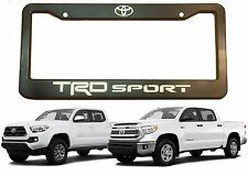 TRD Sport License Plate Frame With White Vinyl Lettering New Free Shipping USA
