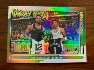 2020-21 NBA Hoops Zion Williamson & Ja Morant Jersey Swap HOLO Silver Insert SP