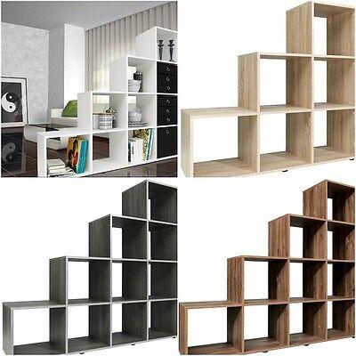 Wood Box Shelves Step Storage White Shelf Cube Bookcase Shelving Unit Furniture Ebay