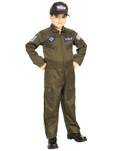 Image is loading Kids-Military-Aviator-Air-Force-Fighter-Pilot-Jumpsuit-  sc 1 st  eBay & Kids Military Aviator Air Force Fighter Pilot Jumpsuit Army Costume ...