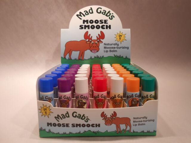 Mad Gabs Bear Smooch Plastic Tube SPF 15 Lip Balm Beeswax Olive Oil Vitamin E