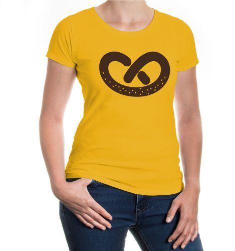 Damen Kurzarm Girlie T-Shirt Brezl Brezel Bäcker Bäckerei Gebäck