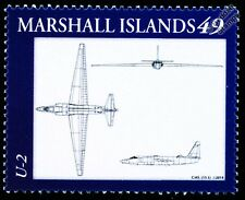 Lockheed U-2/U2 Dragon Lady Spy Plane Military Aircraft Diagram/Design Stamp