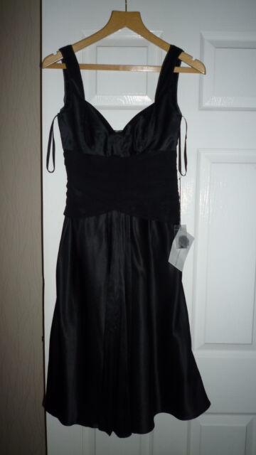 Coast Black Ababa Dress Xmas Year Party Cocktail Uk8 Silk Blend Ebay