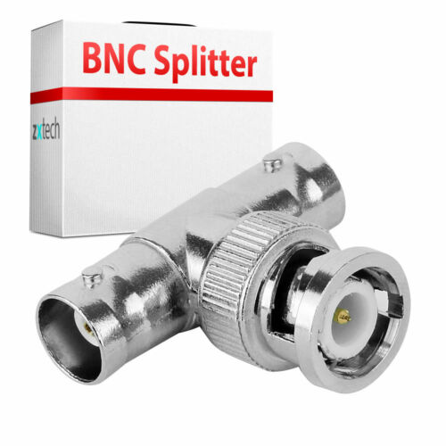 BNC MALE TO DOUBLE BNC FEMALE CCTV RG59 CONNECTOR 10 Pack