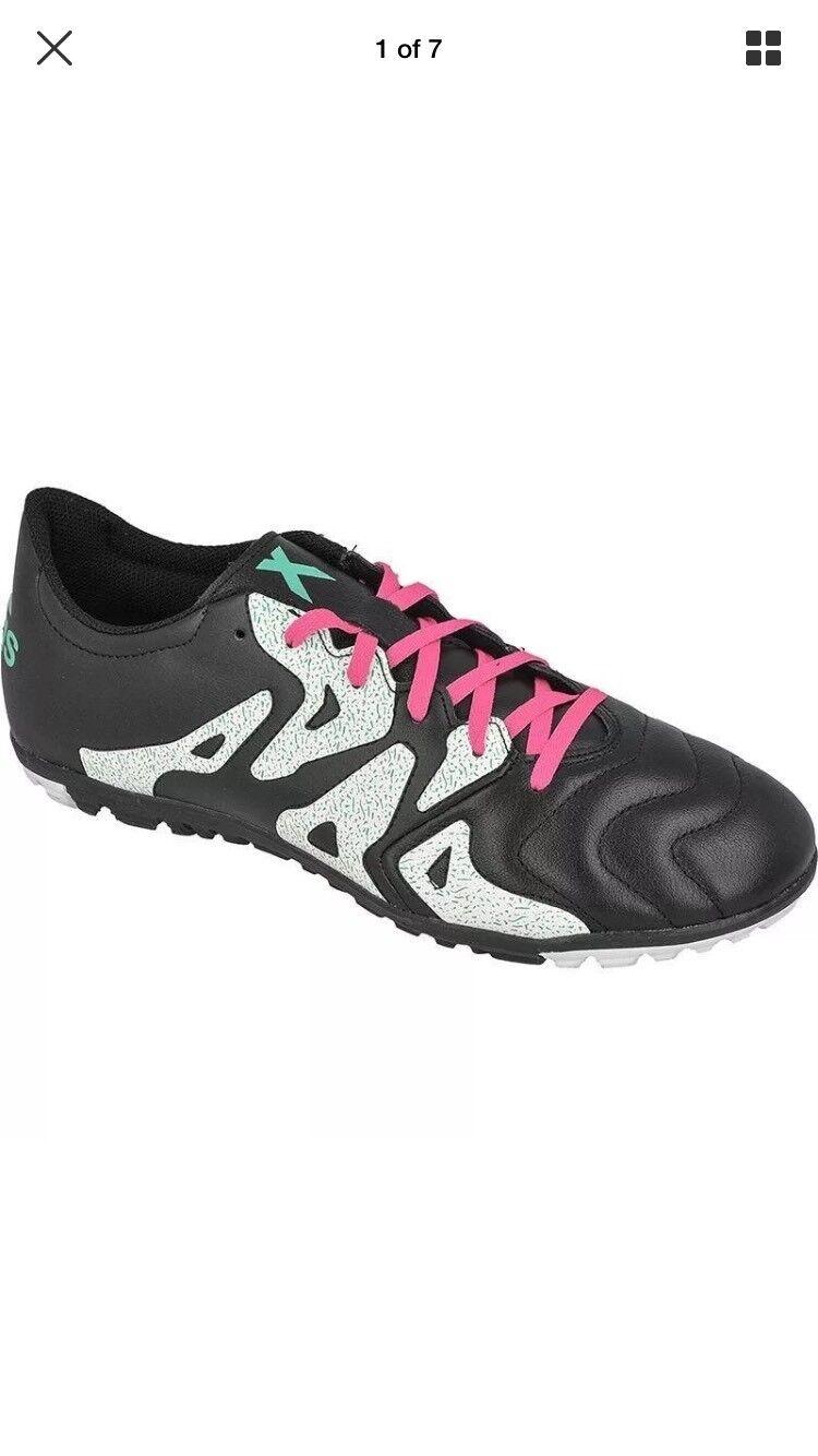 Chaussures de soccer intérieur Adidas 15.3 Af4789 Crampons noirs pour hommes, taille 8.5
