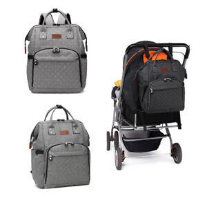 Backpack Multi-Function Bag Polka Dot Grey Mummy Changing Bag Baby Diaper Nappy