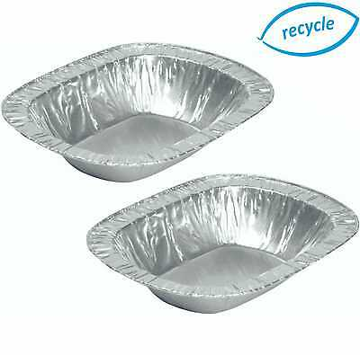 Individual Foil Pie Dishes Cases Disposable Tins Rectangle Oblong Containers