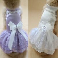 new listing Cute Dog Pet Skirt Dress Lace Puppy Costume Clothes Party Apparel