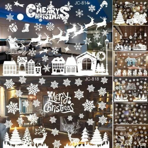 Christmas Xmas Santa Removable Window Stickers Art Decal Wall Home Shop Decor .W