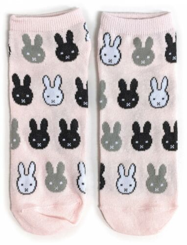 Ladies Miffy Rabbit Everywhere Shoe Liners Socks 4-8 UK 37-42 Eur 6-10 US