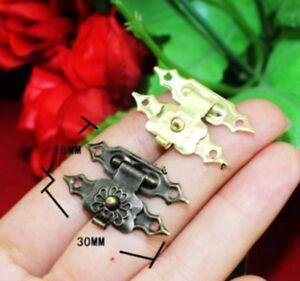 3pc Set Mini Petit Or Ou Bronze Tone Serrure De Coffre Loquet Craft Cadenas Charnières Uk C-afficher Le Titre D'origine éConomisez 50-70%