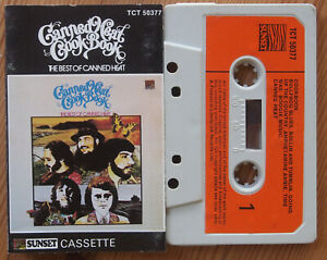 CANNED-HEAT-THE-BEST-OF-SUNSET-TCT50377-ORIGINAL-UK-CASSETTE-TAPE-VG-COND
