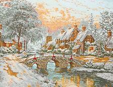 Cobblestone Christmas - Maia 1062 - Kit Broderie Point de Croix Compté  45*35 cm