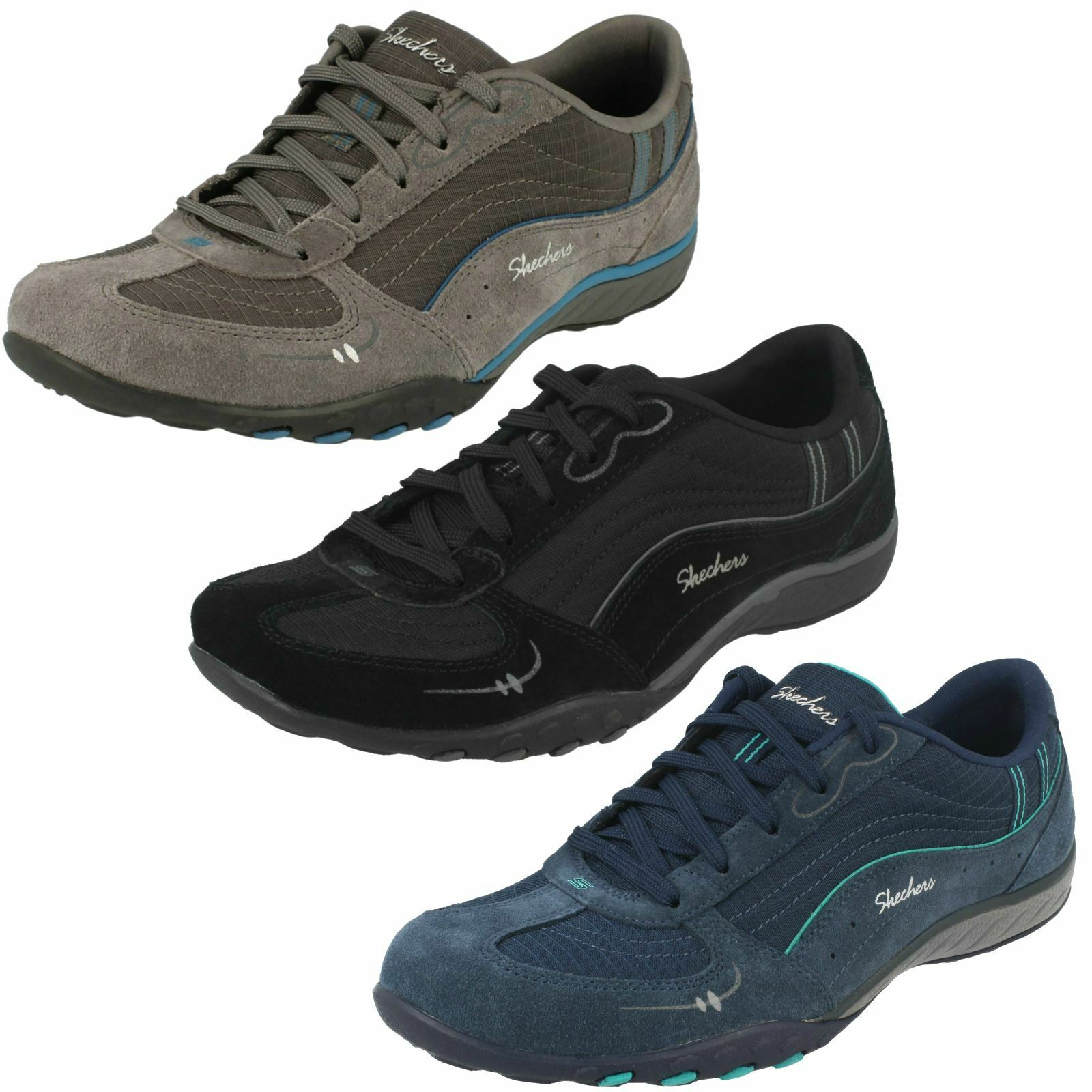 Relaxed Fit Trainers Ladies Skechers Breathe Easy Just Relax