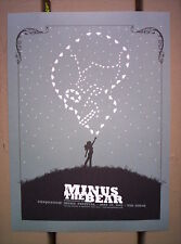 MINUS THE BEAR Indie Rock SASQUATCH Concert mini Poster