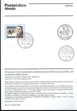 ITALY 2008 TOMMASO LAI BULLETIN COMPLETE STAMPS FDC