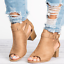 Roman-Womens-Open-Toe-Mid-Block-Heels-Ankle-Strap-Casual-Buckle-Mule-Sandal-Shoe thumbnail 9