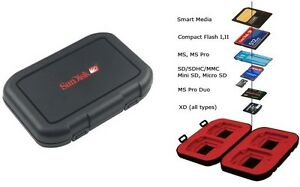sandisk ms memory stick pro duo memory card case holder 692754434424