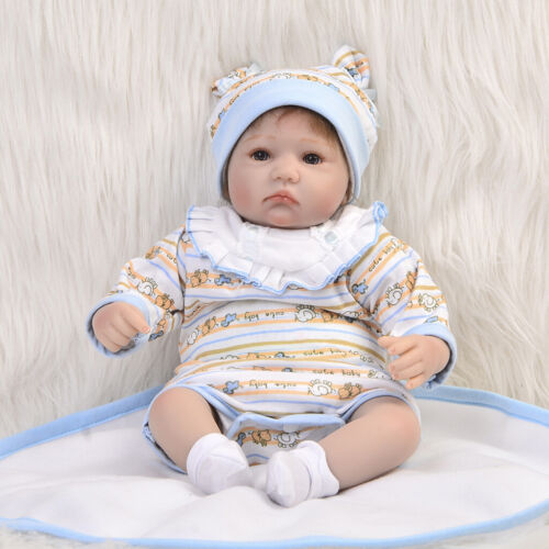 Rompers Bib Hat Socks Shoes Clothes for 17-18inch Reborn Baby Girl//Boy Doll
