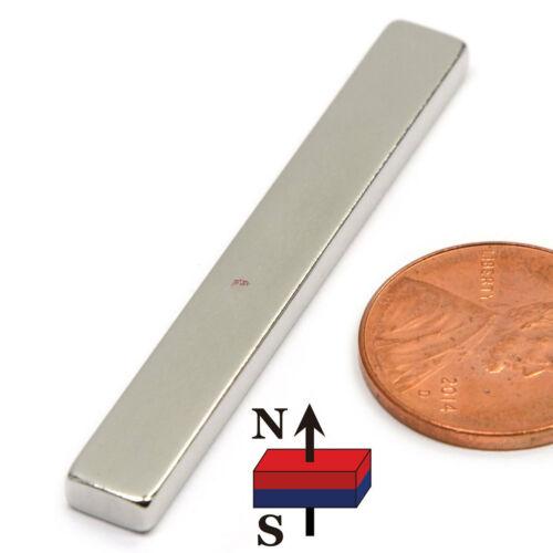"Multi Piece N50 Neodymium Magnets 2x1//4x1//8/"" NdFeB Rare Earth Magnets"