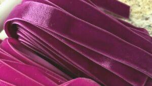 Vintage-5-8-034-Velvet-Ribbon-Magenta-Trim-16mm-3yds-Made-in-England