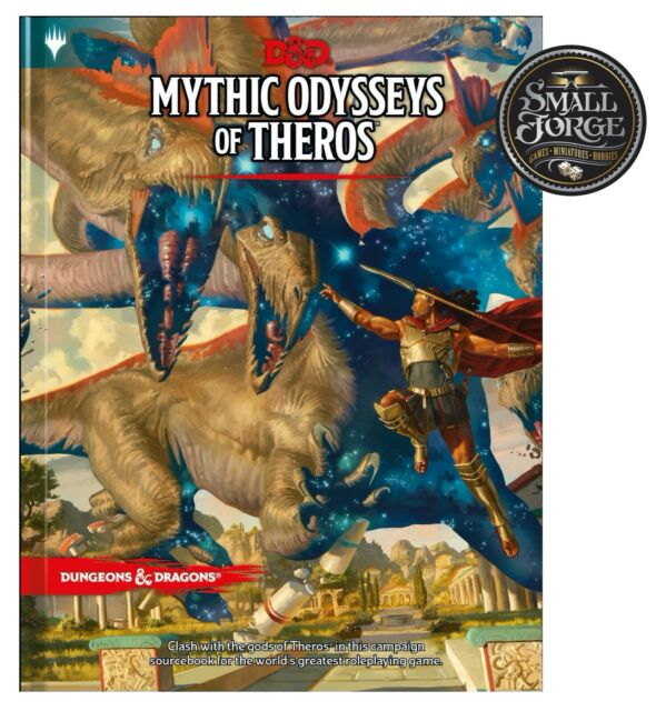 D&D Mythic Odysseys of Theros, 5th Edition Hardcover Sourcebook, NEW
