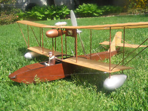Details about Model Airplane Plans (FF-RC): 1912 Leveque Flying Boat Scale  33
