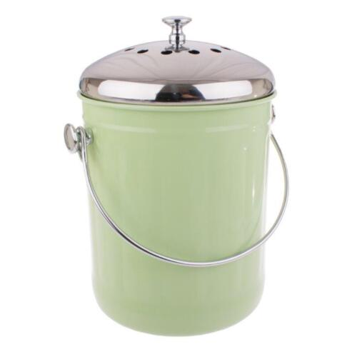 Home Compost Bin Waste Composter Food Garden Recycling Scrap Trash Green 5L
