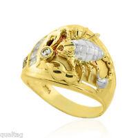 Multi-tone Gold Scorpion Mens Cz Scorpio Ring