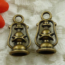 Free Ship 210 pieces bronze plated hurricane lamp charms 20x10mm #1556