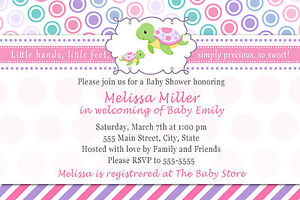 Image Is Loading 30 Personalized Cute Sea Turtle Baby Shower