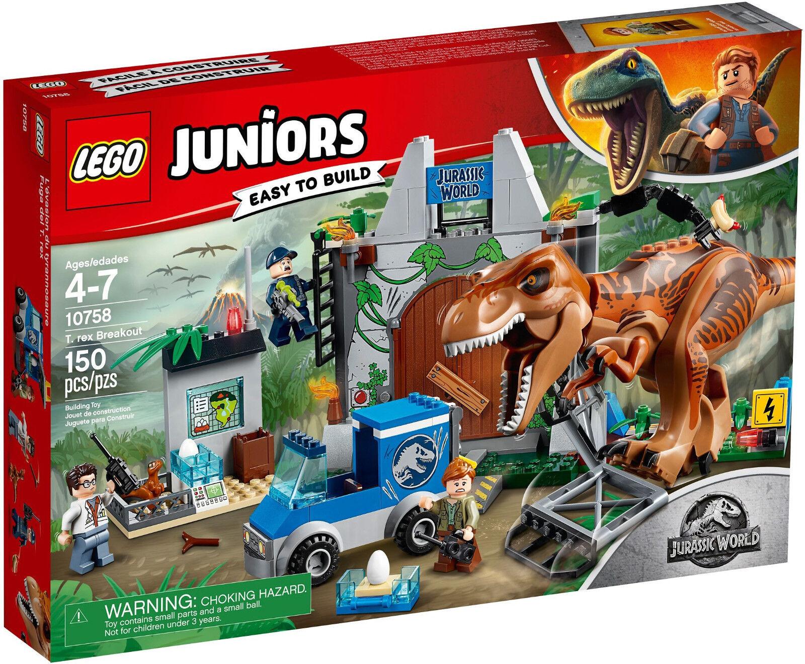 Lego Juniors - 10758 éruption éruption éruption du T-Rex/dérivation-NOUVEAU & NEUF dans sa boîte d59659