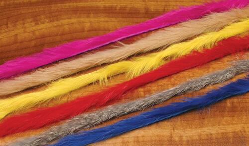 MICRO Rabbit Strips Hareline USA  4 x 30 x 0,2 cm 10 Farben Auswahl Grade A
