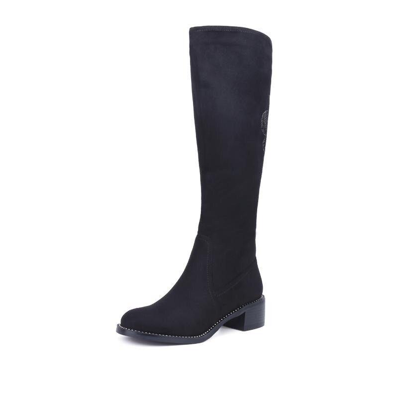 Women's Winter Warm Plus Plus Plus Size Faux Suede Knee High Boots  Snow shoes 3570a2