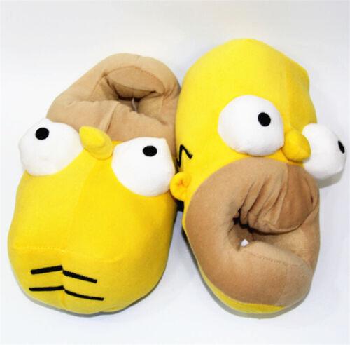 Les Simpson Tête En Forme De Nouveauté Pantoufles pour hommes gagnant Home Chaussure mignon cadeau NOUVEAU