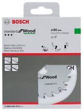 Bosch Circular Saw Blade Wood for GKS 10,8 V-LI 85mm 1.1 mm 15mm 20t 2608643071