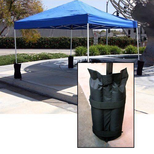 4Pc Garden Gazebo Sandbag Weights Leg Anchors For Market Stalls Tables Marquee