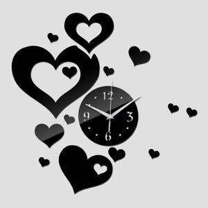 Acrylic-Wall-Clock-Quartz-Watch-3D-DIY-Home-Art-Decoration-Heart-Designed-Clocks