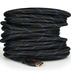 Braided-Short-amp-Long-Ultra-HD-HDMI-Cable-US-Lot-3ft-6ft-10ft-25ft-30ft-50ft-66ft