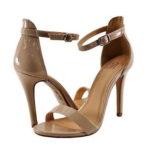 caa42376c62 Women s Shoes Delicious Tyrell Open Toe Ankle Strap Heel Dark Beige ...