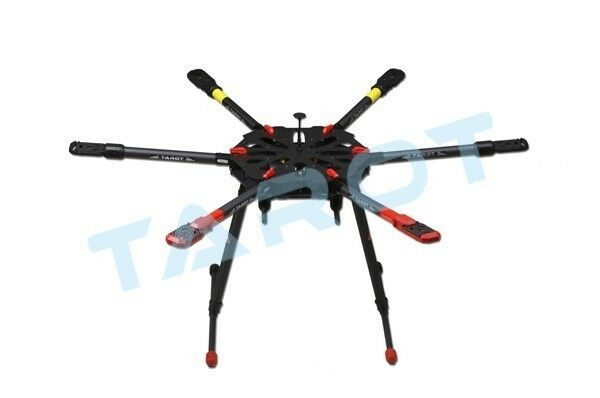 TArosso X6 ALL Carbon HEXA copter Kit with Electric retractable landing skids set