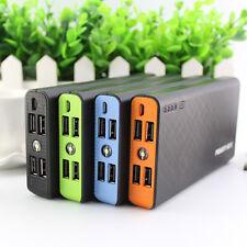50000mAh 4 USB Externer Akku Ladegerät Handy Mobile Power Bank Zusatzakku Orange