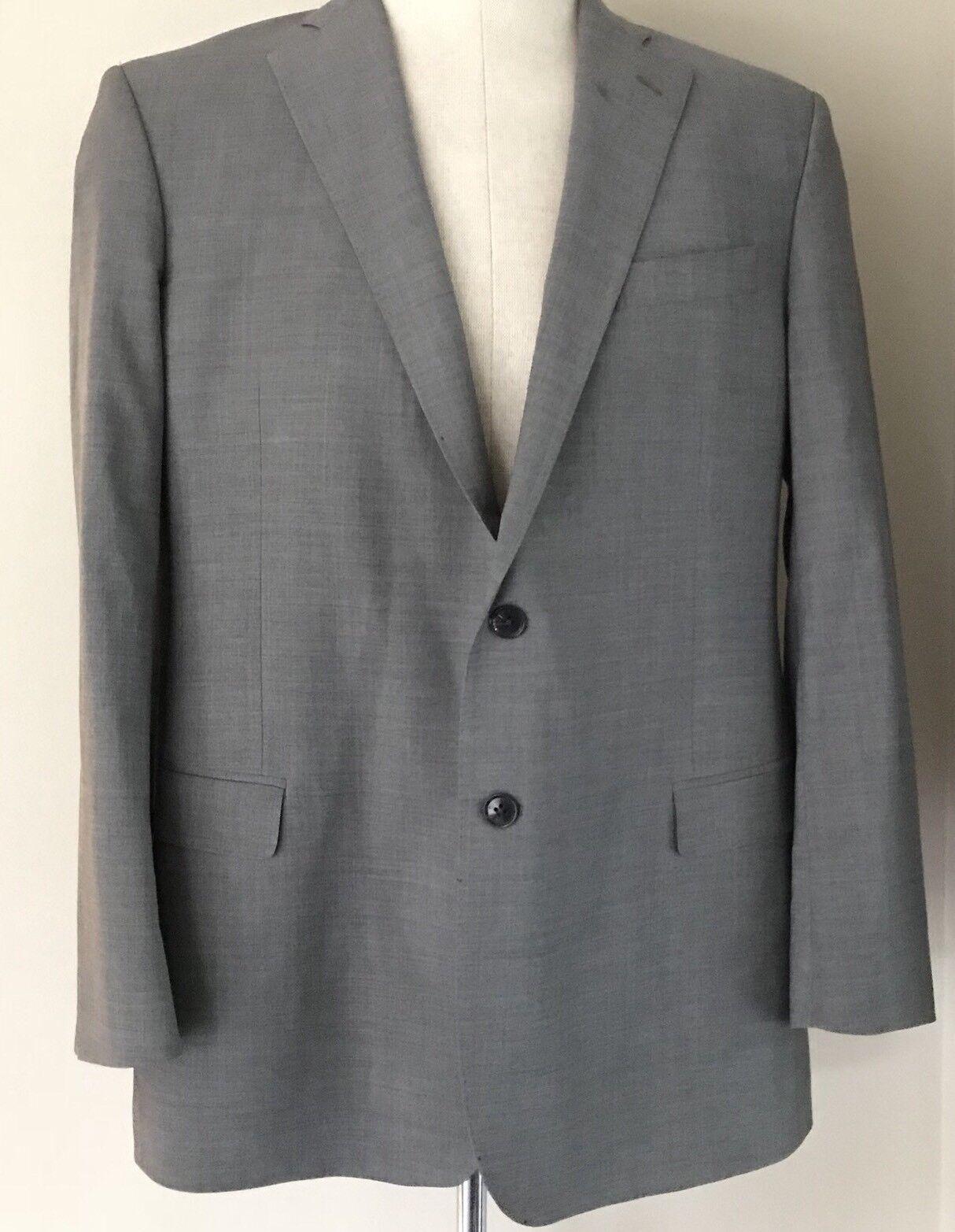 Brooks Brothers 346 Glen Plaid grau Wolle Sport Mantel Jacket Blazer 43R
