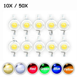 10-50pcs-High-Power-Light-Beads-DIY-SMD-LED-COB-Chip-3W-Cool-Warm-White